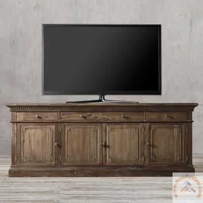 Siyah Renkli Ahşap Eskitme Yemek Masası