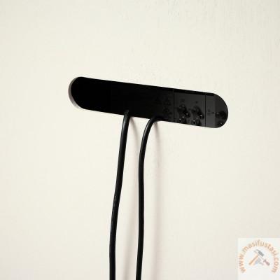 Nihal Beyaz Mermer Tablalı Yuvarlak Ahşap Yemek Masası