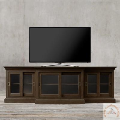 Kastor 4 Kapılı Orta Boy Beyaz Renkli Ahşap Vitrin